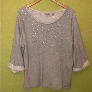 beaded accent sweater